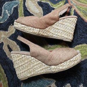 Volatile Shoes - EUC Volatile glitter jute wedges. PERFECT! 😎