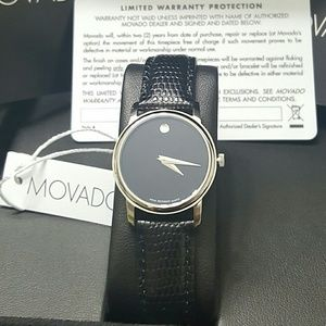 Brand NWT Movado Leather Ladies watch