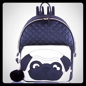 Betsey Johnson Handbags - Betsey Johnson Quilted Black Dog Pug Backpack