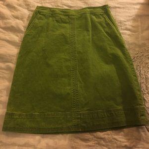 Boden Dresses & Skirts - ADORABLE GREEN CORDUROY SKIRT