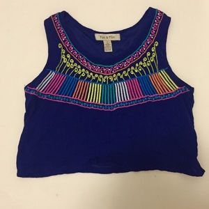 Fun & Flirt Tops - FUN & FLIRT COLORFUL CROP TOP