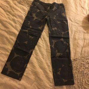 Boden Pants - Boden navy & grey patterned work pants!