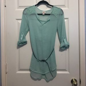 Mint Green Tunic with Studded BeltSALE