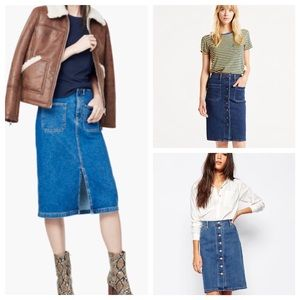 Mango Dresses & Skirts - 💥1HR SALE💥NWT Mango Denim Skirt 🌞