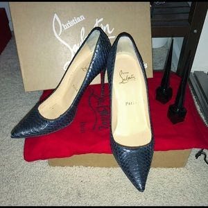 Christian Louboutin Shoes - Christine louboutin water snake heels 4inches