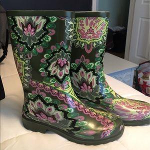 Shoes - Paisley rainboots