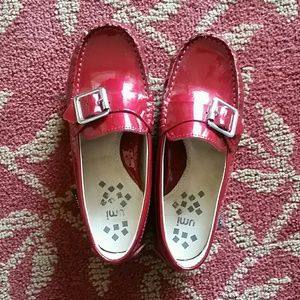 Umi Other - Girls size 11.5 Red Leather Umi Boat Mocassin