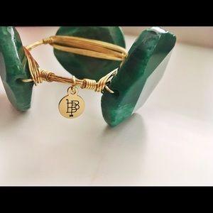 Emerald Bourbon & Boweties Bangle
