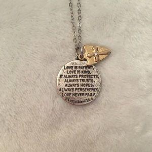 1 Corinthians 13:4 Etched Pendant