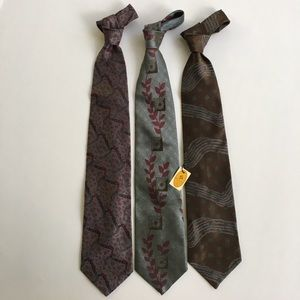 Pierre Balmain Other - Balmain ties.  Vintage Group of 3 silk texture.