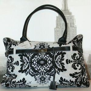 Chadwicks Handbags - CHADWICK'S Black and White Filigree Purse NWT