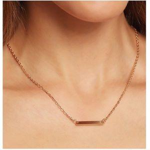 Brandy Melville Jewelry - ✨Gold Simple Minimalist Bar Necklace ✨