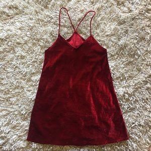 d2fc7346aa7f3 Brandy Melville Dresses - NEW NEVER WORN Brandy Melville Red Velvet Dress