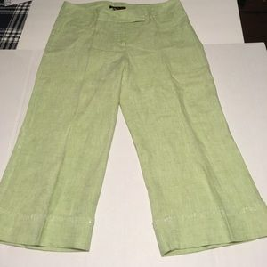 Willi Smith Pants - Willi Smith pale green crops w/ embellished cuffs