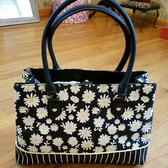 45% Off Betsey Johnson Handbags - Ud83cudf3cNWT-BETSEY JOHNSON AMAZING FLORAL TOTE! From Shop Aprilu0026#39;s ...