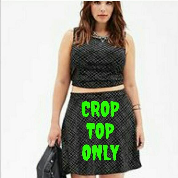 3070b8c891d Forever 21 Tops | Black Sparkle Velvet Sleeveless Crop Top | Poshmark