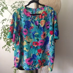 Alfred Dunner Tops - Alfred Dunner Vintage Fabulous Floral Top 24w