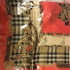 Silk scarf Burberry look