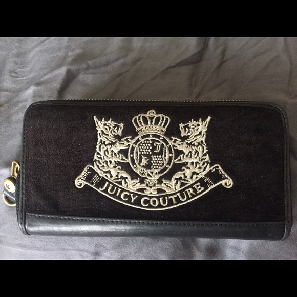 Juicy Couture Handbags - Black velvet juicy couture wallet