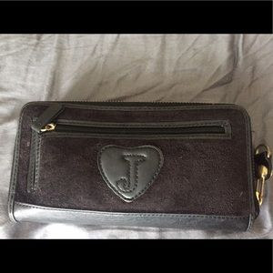 Juicy Couture Bags - Black velvet juicy couture wallet