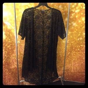 Express Black Lace Kimono