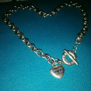 Tiffany & Co. Jewelry - 💯Authentic Tiffany toggle puff heart necklace