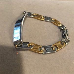 """Other - 14k two toned gold Mariner Gucci men's bracelet 8"""""""