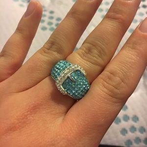 Jewelry - Silver Plated Crystal Ring