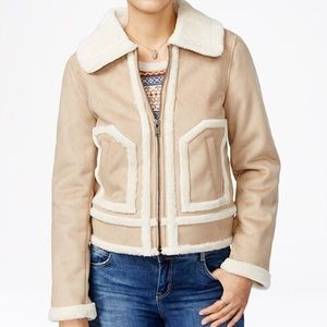 Collection B Jackets & Blazers - Faux shearing trimmed jacket