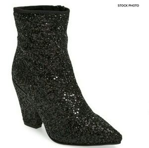 Topshop Shoes - TOPSHOP Sequin Glitter Pointy Toe Bootie