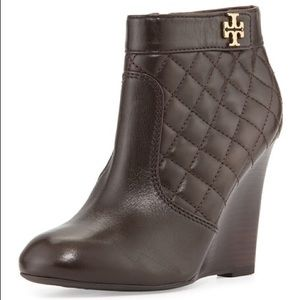 Tory Burch Shoes - Tory Burch- Leila Quilted Wedge Bootie Coconut NWT