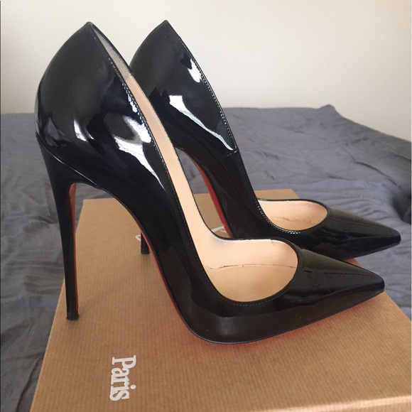 finest selection 08bb3 25a83 Christian Louboutin So Kate 120 black patent pumps