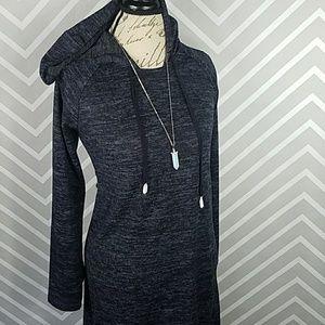 Cable & Gauge Dresses & Skirts - Hi Lo Hoodie Dress