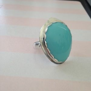 Handmade by Me Jewelry - 14 Ct Sleeping Beauty Turquoise Ring Handmade