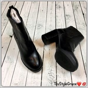 Sole Society Shoes - Brand New-Sole Society Black Leather Booties-7-1/2