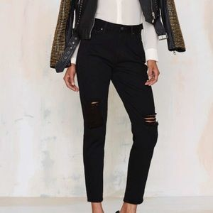Nasty Gal Gettin' Ripped Distressed Jeans