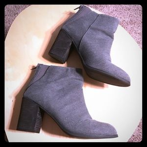 Ecote Shoes - Grey/Blue Canvas booties by Ecote