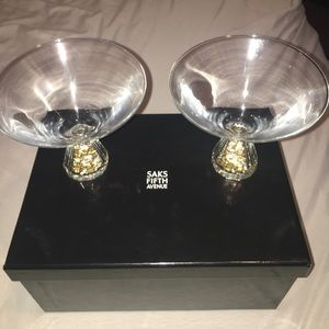 Saks Fifth Avenue Other - Martini crystal glasses.