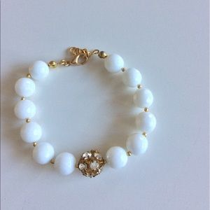 NEW!!! White globe bracelet