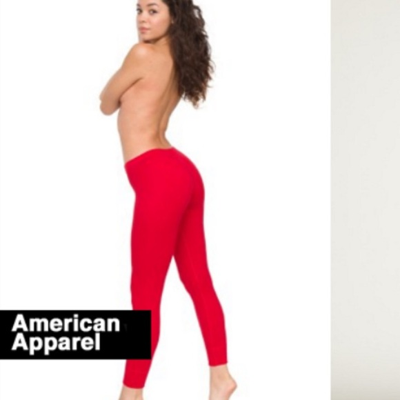 american apparel not in stores red cotton jersey