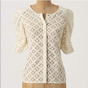 "Anthropologie Tops - Anthropologie ""Back Porch"" Two Of Us Lace Blouse"