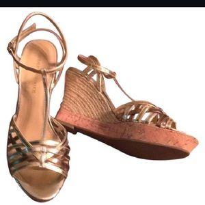 Audrey Brooke Shoes - 🇺🇸 Audrey Brooke T-Strap Wedge Sandals