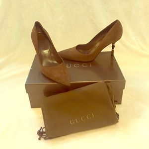 Gucci Shoes - NEW GUCCI SUEDE HEELS