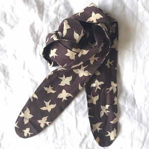 Vintage bird silk scarf