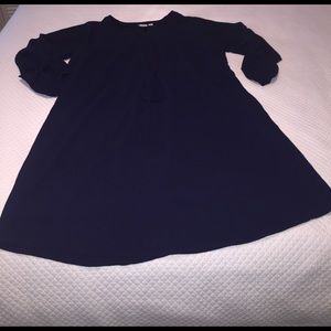 Cato Dresses & Skirts - Navy blue dress drawstring waist super cute lined