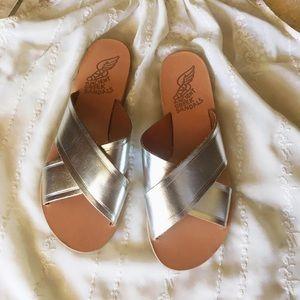 Ancient Greek Sandals Shoes - ✨✨Ancient Greek Sandals 'Thais' Metallic leather