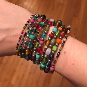 Jewelry - Rainbow bead bracelet