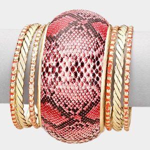 Jewelry - Snake Skin Bracelet Set