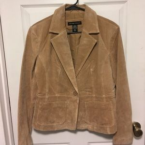 New York & Company Jackets & Blazers - NWT New York & Company Leather Blazer Jacket sz 14