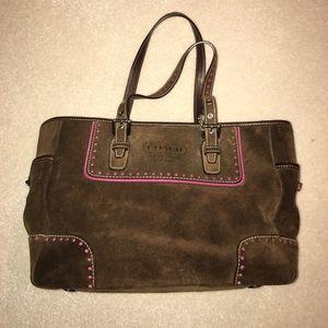 Coach Handbags - Coach brown suede bag